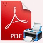 PDF Print Icon white